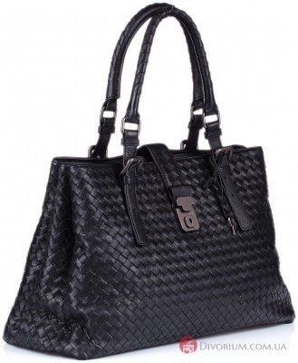 Женский портфель  Bottega Veneta Intrecciato Light Calf Roma Bag Bottega Veneta Intrecciato Light Calf Roma Bag