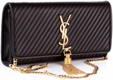 Женский клатч  Yves Saint Laurent Classic Monogram Tassel Clutch